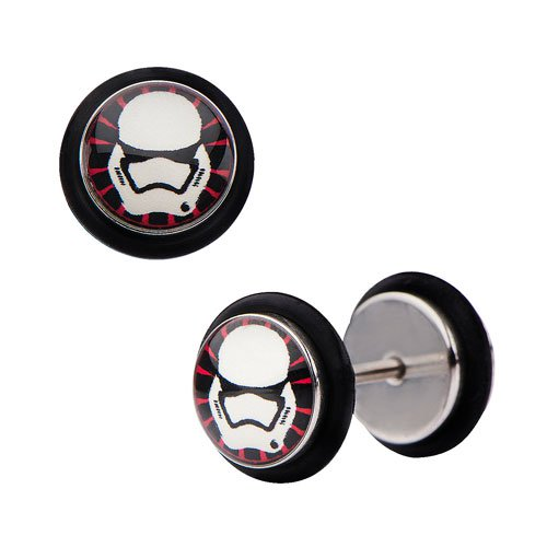 Star Wars Episode VII: The Force Awakens First Order Stormtrooper Screw Back Earrings - Official Female :: Mental XS Online