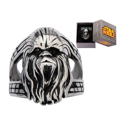 Star Wars Chewbacca 3D Stainless Steel Ring - Official Unisex :: Mental XS Online