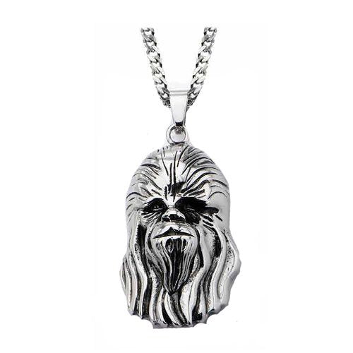 Star Wars Chewbacca Head 3D Pendant Necklace - Official Unisex :: Mental XS Online