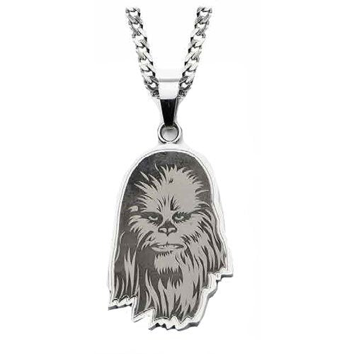Star Wars Chewbacca Etched Pendant Necklace - Official Unisex :: Mental XS Online
