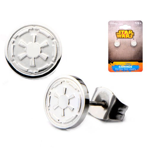 Star Wars Galactic Empire Symbol Stainless Steel Stud Earrings - Official Unisex :: Mental XS Online