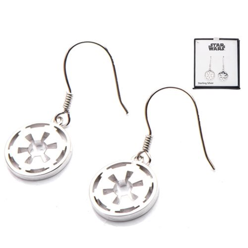 Star Wars Galactic Empire Symbol Sterling Silver Earrings - Official Female :: Mental XS Online