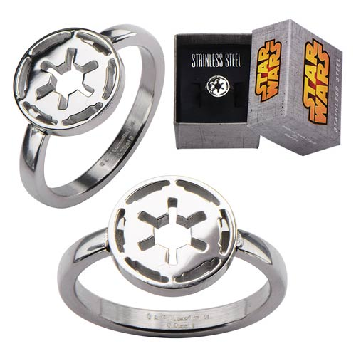 Star Wars Galactic Empire Symbol Cut Out Ring - Official Female :: Mental XS Online