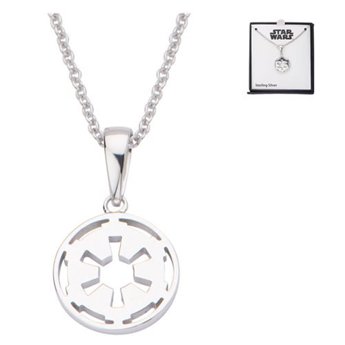 Star Wars Galactic Empire Symbol Sterling Silver Necklace - Official Female :: Mental XS Online