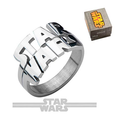 Star Wars Logo Cut Out Ring - Official Unisex :: Mental XS Online