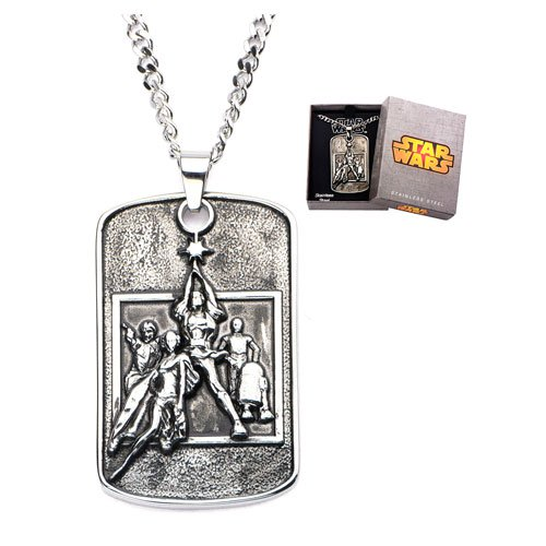 Star Wars Poster Pendant Necklace - Official Unisex :: Mental XS Online