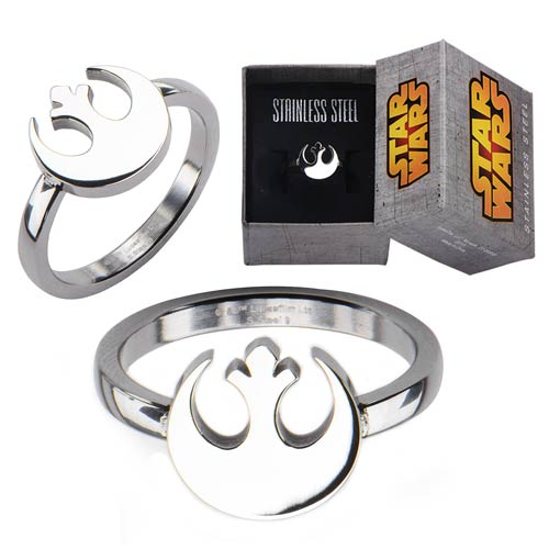 Star Wars Rebel Symbol Cut Out Ring - Official Female :: Mental XS Online