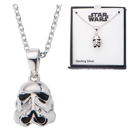 Star Wars Stormtrooper 3D Sterling Silver Pendant Necklace - Official Unisex :: Mental XS Online