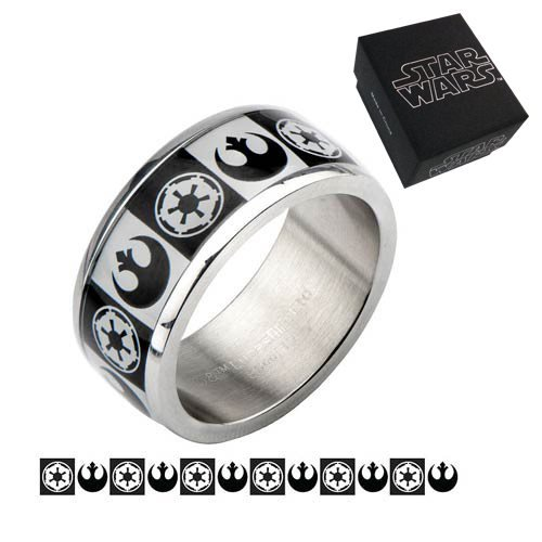 Star Wars Empire vs. Rebel Alliance Ring - Official Unisex :: Mental XS Online