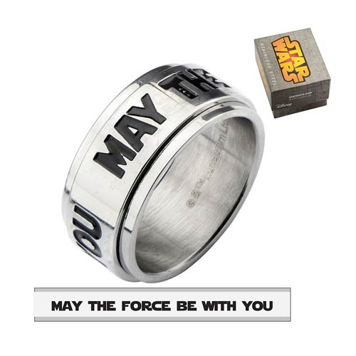 Star Wars May The Force Spinner Ring - Official Unisex :: Mental XS Online
