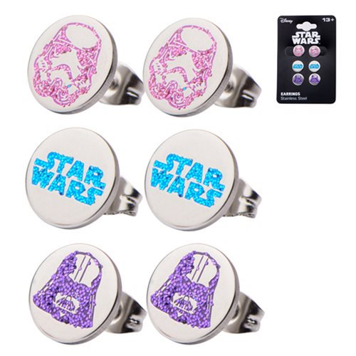 Star Wars Stainless Steel Stud Earring Set - Official Female :: Mental XS Online