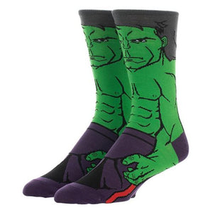 Marvel Comics Avengers: Endgame Hulk 360 Character Socks - Official Male :: Mental XS Online