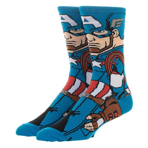 Marvel Comics Avengers: Endgame Captain America 360 Character Socks - Official  :: Mental XS Online