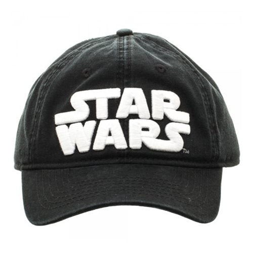 Star Wars Logo Black Adjustable Hat Baseball Cap - Official Unisex :: Mental XS Online