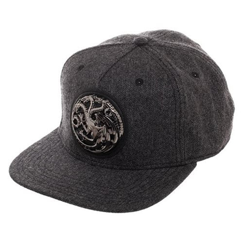 Game of Thrones Targaryen Grey Snapback Hat - Official Bioworld :: Mental XS Online