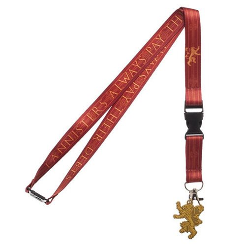 Game of Thrones Lannister Lanyard - Official Bioworld :: Mental XS Online