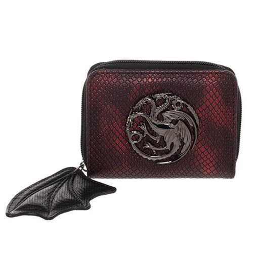 Game of Thrones Targaryen Zip-Around Bifold Wallet - Official Bioworld :: Mental XS Online