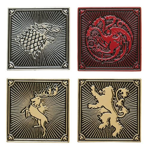 Game of Thrones House Lapel Pin Set - Official Bioworld :: Mental XS Online