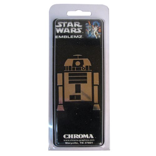 Star Wars R2-D2 Chrome Injection-Molded Emblem - Official Unisex :: Mental XS Online