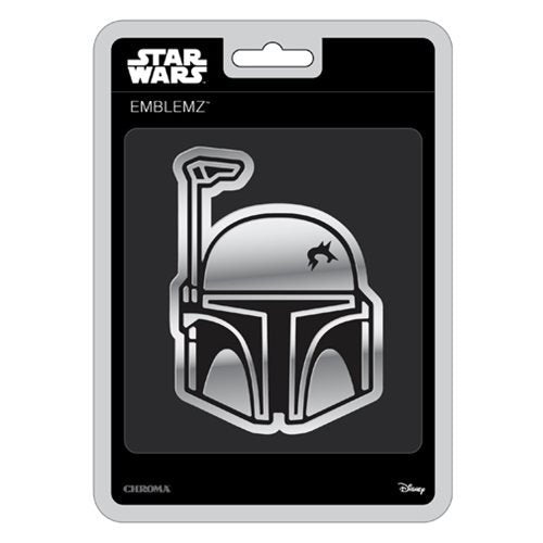 Star Wars Boba Fett Chrome Injection-Molded Emblem - Official Unisex :: Mental XS Online
