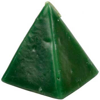 Green Cherry Scented Pyramid Candle 3