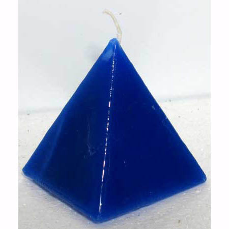 Blue Jasmine Scented Pyramid Candle 3