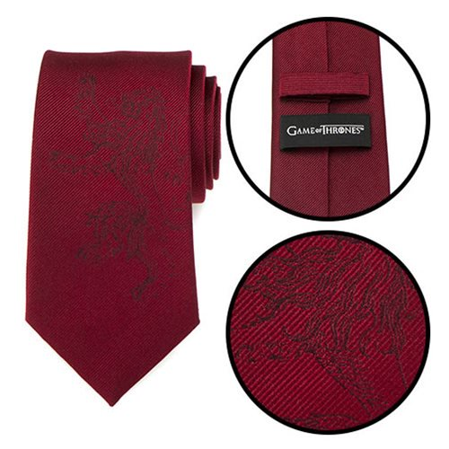 Game of Thrones Lannister Lion Red Men's Tie - Official Cufflinks Inc :: Mental XS Online