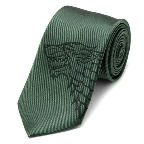 Game of Thrones Stark Direwolf Green Men's Tie - Official Cufflinks Inc :: Mental XS Online