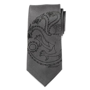 Game of Thrones Targaryen Dragon Gray Men's Tie - Official Cufflinks Inc :: Mental XS Online
