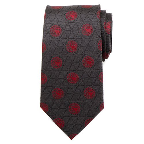 Game of Thrones Targaryen Geometric Sword Gray Men's Tie - Official Cufflinks Inc :: Mental XS Online