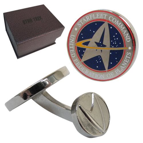 Star Trek Starfleet Silver Cufflinks - Official Cufflinks Inc :: Mental XS Online