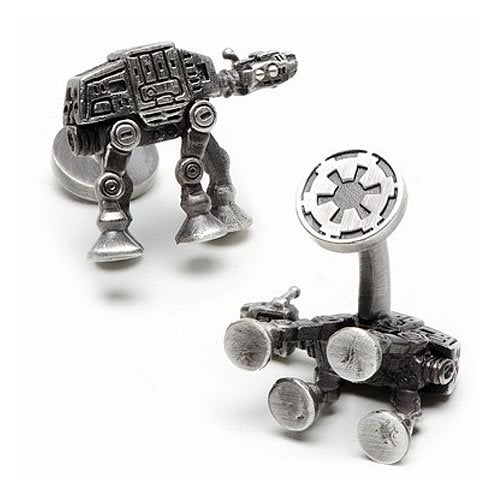 Star Wars AT-AT Walker 3D Palladium Plated Antique Finish Silver Cufflinks - Official Cufflinks Inc :: Mental XS Online