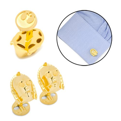 Star Wars C-3PO 3D Gold Cufflinks - Official Cufflinks Inc :: Mental XS Online