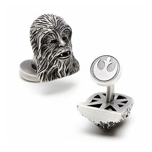 Star Wars Chewbacca 3D Palladium Plated Antique Finish Cufflinks - Official Cufflinks Inc :: Mental XS Online