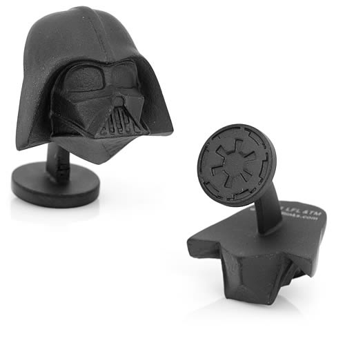 Star Wars Darth Vader Helmet 3D Matte Black Cufflinks - Official Cufflinks Inc :: Mental XS Online