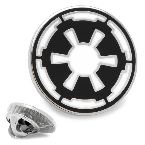 Star Wars Imperial Symbol Enamel Plated Silver Lapel Pin - Official Cufflinks Inc :: Mental XS Online