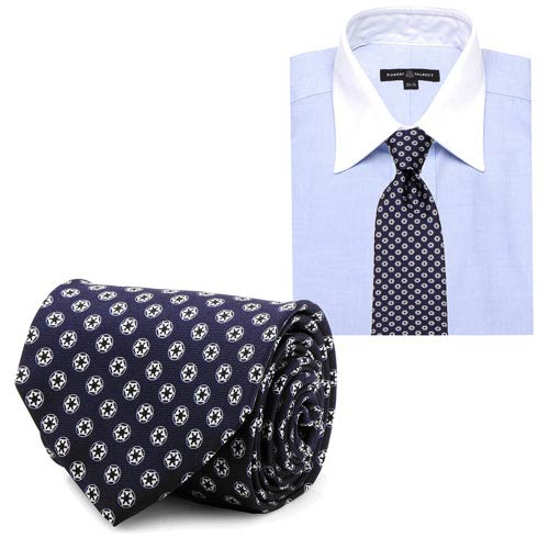 Star Wars Imperial Symbol Pattern Navy Italian Silk Tie - Official Cufflinks Inc :: Mental XS Online