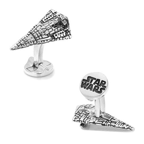 Star Wars Star Destroyer 3D Cufflinks - Official Cufflinks Inc :: Mental XS Online