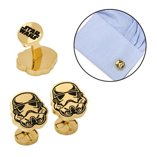 Star Wars Stormtrooper Black and Gold Cufflinks - Official Cufflinks Inc :: Mental XS Online