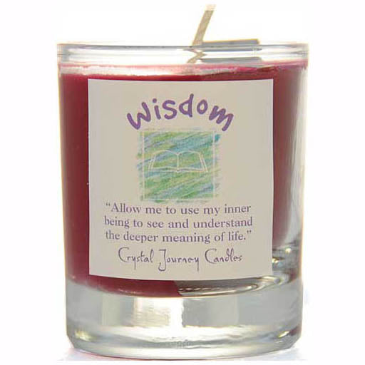 Crystal Journey Candles Red Wisdom Herbal Soy Votive Glass Candle 2½
