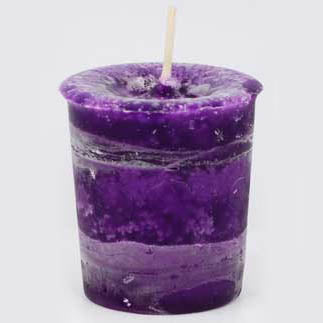 Purple Healing Reiki-Charged Herbal Votive Candle 2½