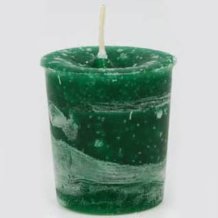 Dark Green Peace Reiki-Charged Herbal Votive Candle 2½