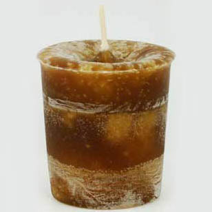 Brown Problem Solving Reiki-Charged Herbal Votive Candle 2½
