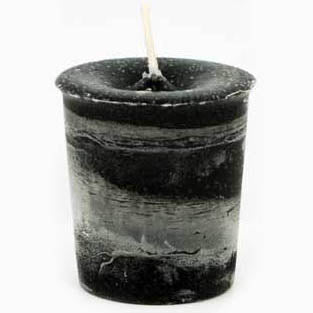 Black Protection Reiki-Charged Herbal Votive Candle 2½