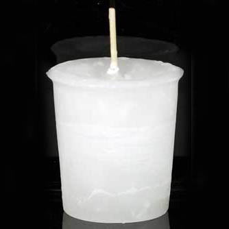 White Spirit Reiki-Charged Herbal Votive Candle 2½
