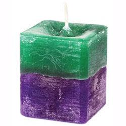 Green & Purple Stress Relief Square Votive Candle
