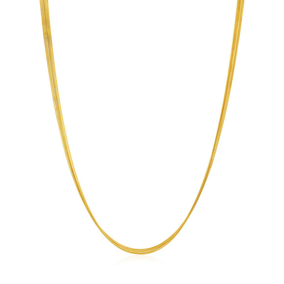 14K Gold Multi-Strand Textured Comfort Curb Necklace - Fine Jewelry from Hamunaptra NY :: Exclusively at Mental XS Online