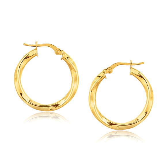 14K Gold Classic Twist Hoop Earrings (7/8 inch Diameter) - Fine Jewelry from Hamunaptra NY :: Exclusively at Mental XS Online
