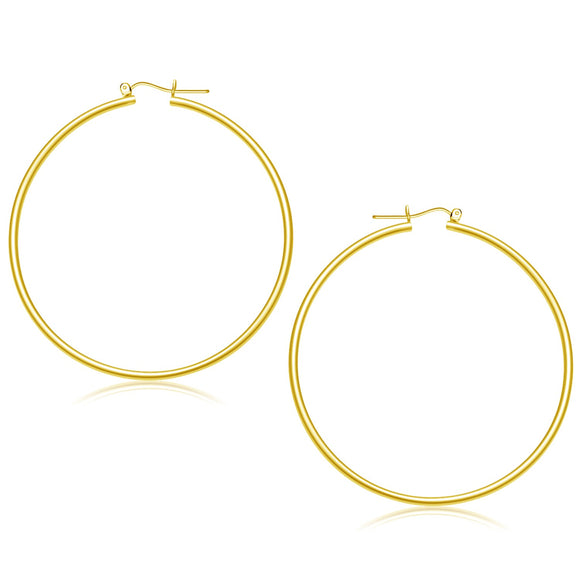 14K Gold Polished Hoop Earrings (55 mm) - Fine Jewelry from Hamunaptra NY :: Exclusively at Mental XS Online