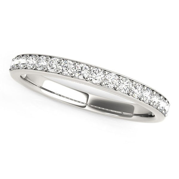 14K White Gold Prong Set 1/3 ct Diamond Wedding Ring